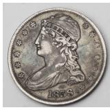 Lot 24a 1838 US Capped Bust Half Dollar