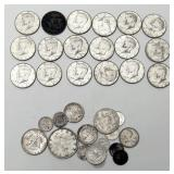 Lot 27A Thirty-Five Silver Coins