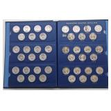 Lot 56 Seventy-Eight Washington Silvers Quarters In Book