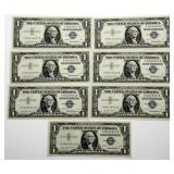 Lot 60a Seven Consecutive 1957 US Silver Certificates