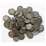 Lot 65 One Hundred 35% Silver War Nickels