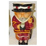 Lot 147 Shorter & Son Toby Mugs: Father Neptune, Beefeater