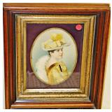 Lot 91 Victorian Lovely Lady In Walnut Shadowbox Frame