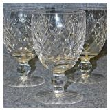 Lot 121 Six Waterford Cut Crystal Water Goblets