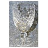Lot 124 Six Waterford Cut Crystal Wine Glasses