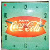 Lot 128 Vintage Coke Wall Clock Working Condition