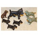 #2 Seven Cast Metal Miniature Dogs