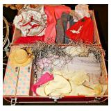 #4 Vintage Doll Case w/ Clothes & Accessories