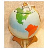 #7a  McCoy Pottery Globe Cookie Jar