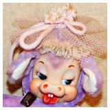 #11  Vintage Rushton Daisy Maisy Purple Cow Plush