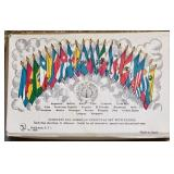 #12a Vintage Pan-American Union Miniature Flag Set