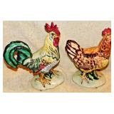 #13a Pennsbury Pottery Rooster & Hen