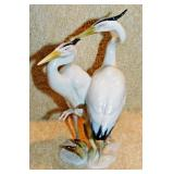 #16a Hutschenreuther Blue Heron Figural Group