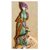 #19a Cappe Figurine: Women & Greyhound