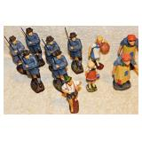 #23a 10 Vintage Figures: German and Swiss