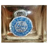 #25a  2 Vintage German Lead Cut Crystal Perfumes