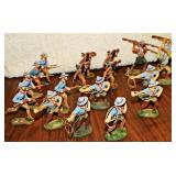 #26a 18 Vintage Elastolin Wild West Figures
