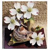 #29a  Cybis Wood Wren & Dogwood Blossoms