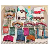 #30  20 Putz Houses + Retro Xmas Miniature Decorations