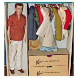 #32  Vintage Ken Doll, Trunk, Wardrobe, Accessories