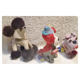 #33b  3 Vintage Dakin Dream Pet Dogs