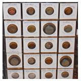 #36a  Approx. 250 Foreign Coins In 3 Ring Binder