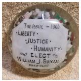 #39  William J. Bryan 1900 Campaign Paperweight