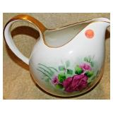 #43a  Hand Painted Lemonade Pitcher: Ann Belanger