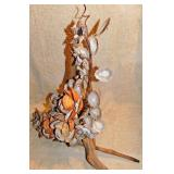 #44a  Large Folk Art Shell Sculpture