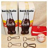 #51  Vintage Coke Collectibles Incl. 2 Bottle Radios