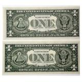 #52b  Twenty Uncirculated US 1963 Series $1 Notes
