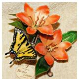 #53a  Bovano Butterfly & Floral Footed Grouping