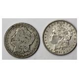 #55a  1880, 1881O Morgan Silver Dollars
