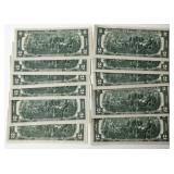 #56b  50 Uncirculated, Consecutive 1976 $2 Notes Plus