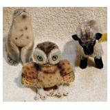 #60  Five Steiff Stuffed Animals
