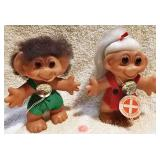 "#61  2 Original Dam Things 7"" Troll Dolls"