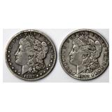 #61a  1882S, 1883S Morgan Silver Dollars