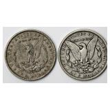 #67a  1887O, 1888 Morgan Silver Dollars