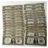 #68b  24 US Silver Certificates 1934 - 1957