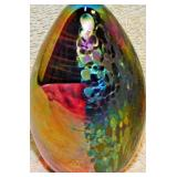 77a  Two Iridescent Egg Paperweights