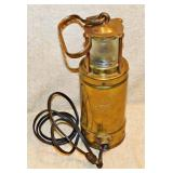#78a  Oldham Brass Lamp From Queen Mary