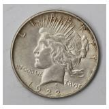 #81  1922 US Peace Silver Dollar VAM-2BB