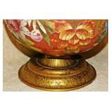 #87  Monumental Hand Painted Ceramic Urn