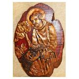 #93  Sister Hadwig Liturgical Embossed Copper Plaque
