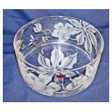#94  Arts Hawaii Etched Lead Crystal Center Bowl