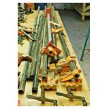 #1a Six Bar Clamps, Four Threaded Pipes