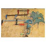 #3a 6 Corner Clamps, 3 Bar Clamps, Bench Vise
