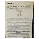 #11a Hitachi 18V Cordless Drill Driver & Light