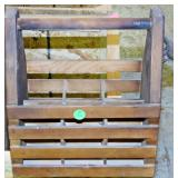 #23a Hand Crafted Wood Beverage Tote