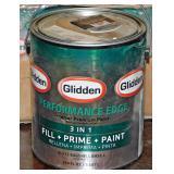 #25a 7 Full Gallons Glidden 3-1 Fill-Prime-Paint